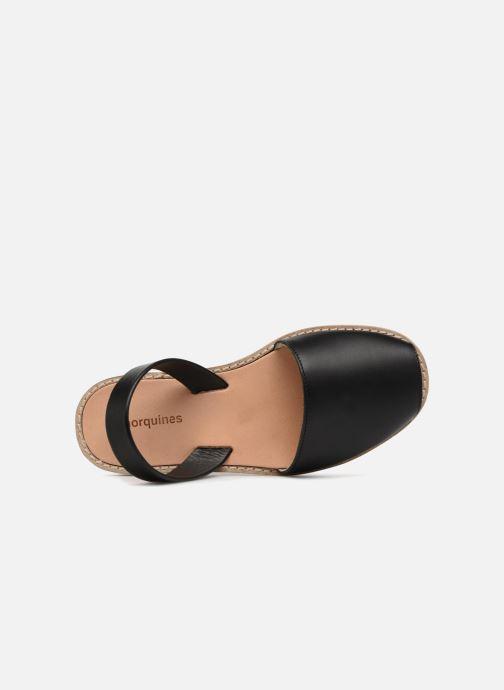Sandales et nu-pieds Minorquines Avarca Noir vue gauche