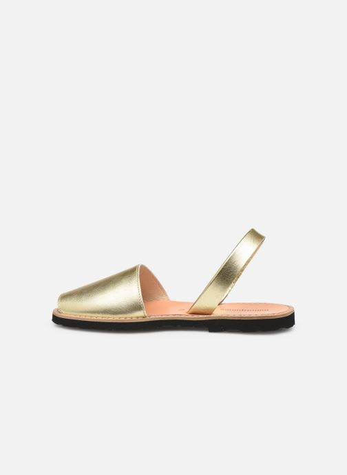 Sandals MINORQUINES Avarca Bronze and Gold front view