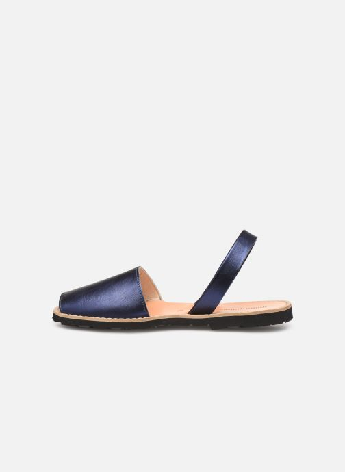 Sandalen Minorquines Avarca blau ansicht von vorne