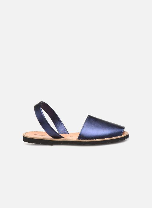 Sandalen Minorquines Avarca blau ansicht von hinten