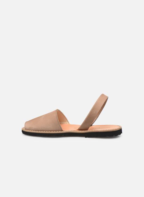 Sandales et nu-pieds MINORQUINES Avarca Beige vue face