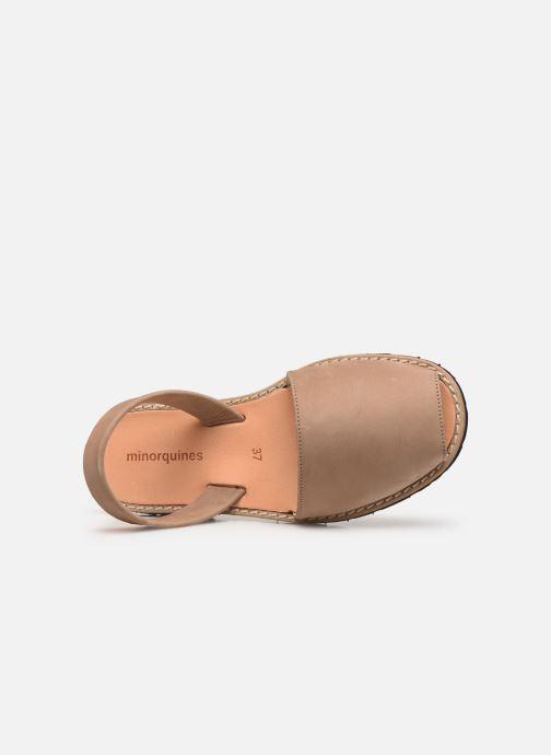 Sandales et nu-pieds MINORQUINES Avarca Beige vue gauche