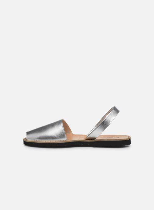 Sandalen Minorquines Avarca silber ansicht von vorne