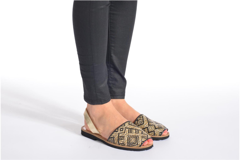 Sandales et nu-pieds MINORQUINES Avarca Rose vue bas / vue portée sac