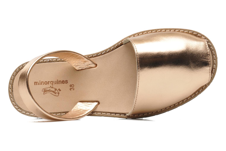 Sandales et nu-pieds MINORQUINES Avarca Rose vue gauche