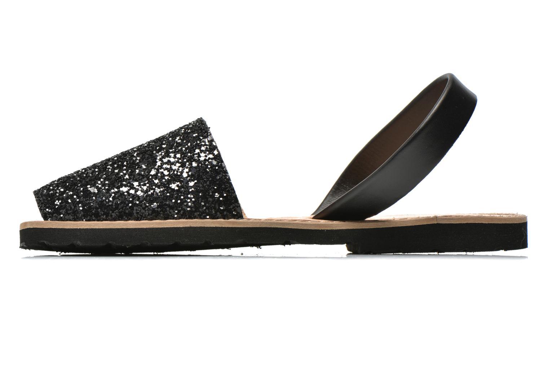 Sandales et nu-pieds MINORQUINES Avarca Noir vue face