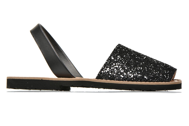 Sandales et nu-pieds MINORQUINES Avarca Noir vue derrière