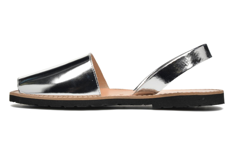 Sandales et nu-pieds MINORQUINES Avarca Argent vue face