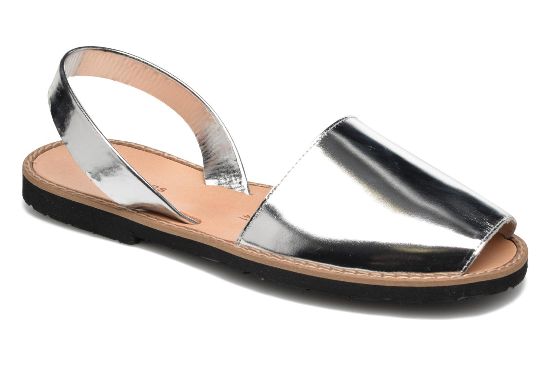 Sandales et nu-pieds MINORQUINES Avarca Argent vue détail/paire