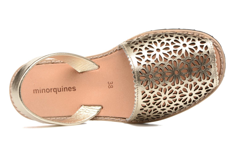 Sandales et nu-pieds MINORQUINES Avarca Or et bronze vue gauche