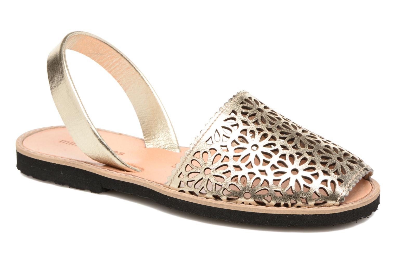 Sandales et nu-pieds MINORQUINES Avarca Or et bronze vue détail/paire