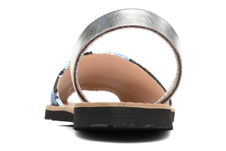 Sandalias MINORQUINES Avarca Azul vista lateral derecha
