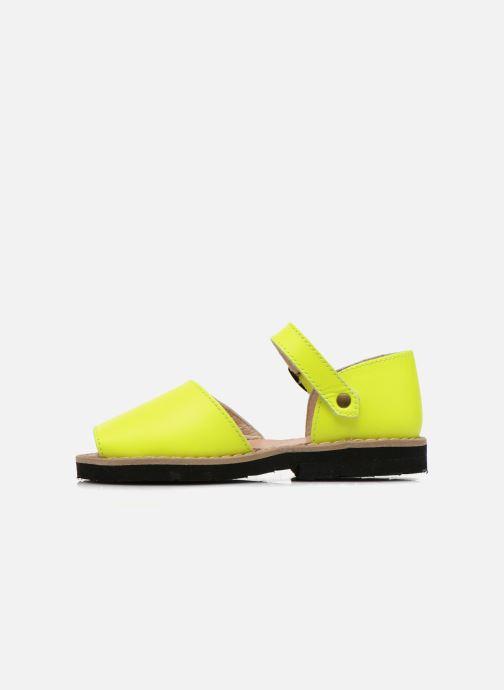 Sandals MINORQUINES Frailera Yellow front view