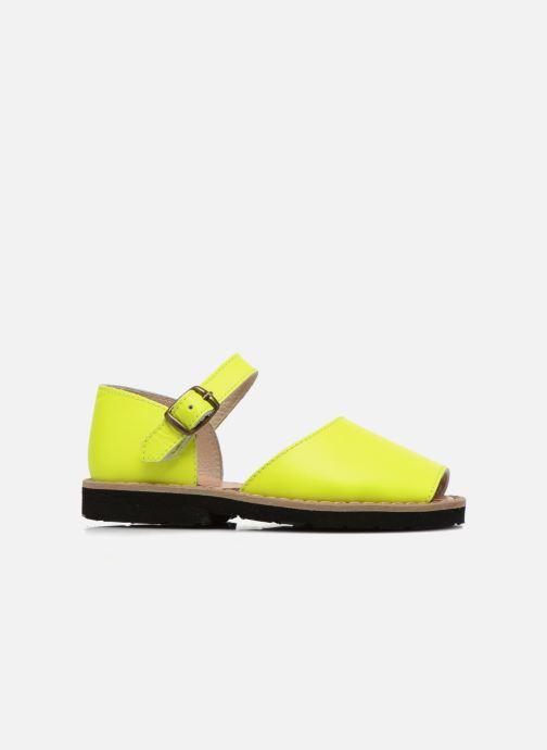 Sandales et nu-pieds Minorquines Frailera Jaune vue derrière