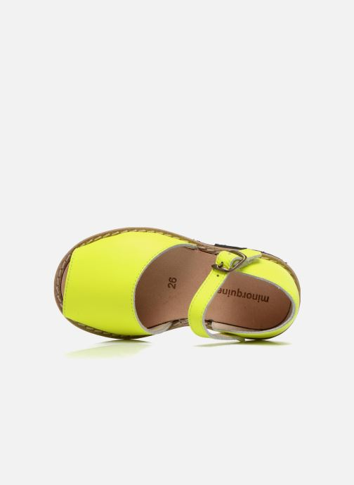 Sandales et nu-pieds Minorquines Frailera Jaune vue gauche