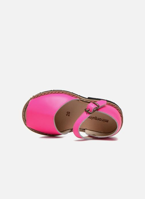 Sandals MINORQUINES Frailera Pink view from the left