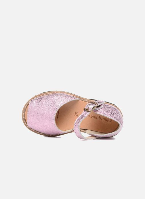 Sandales et nu-pieds MINORQUINES Frailera Rose vue gauche