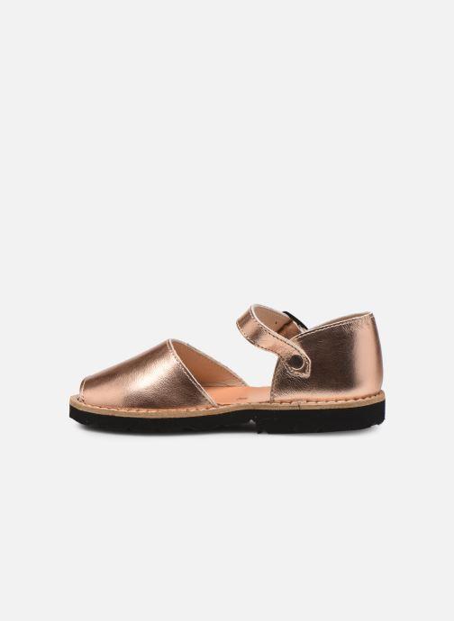 Sandales et nu-pieds MINORQUINES Frailera Or et bronze vue face