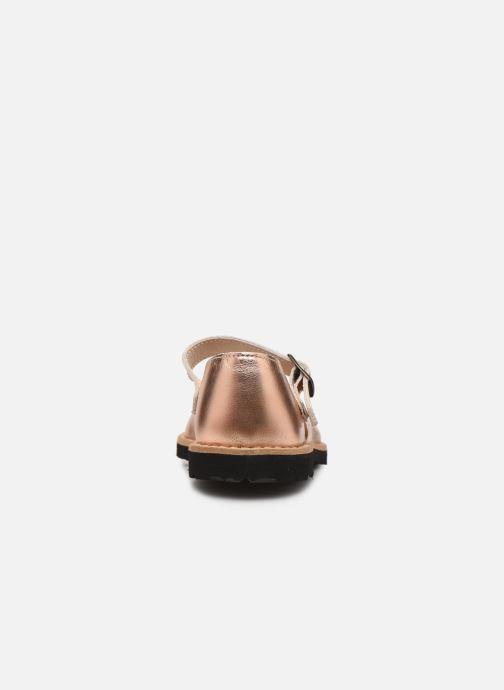 Sandales et nu-pieds MINORQUINES Frailera Or et bronze vue droite
