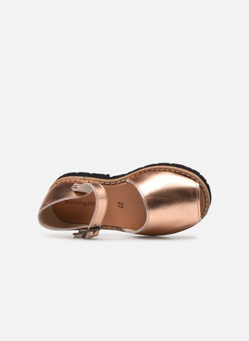 Sandales et nu-pieds MINORQUINES Frailera Or et bronze vue gauche