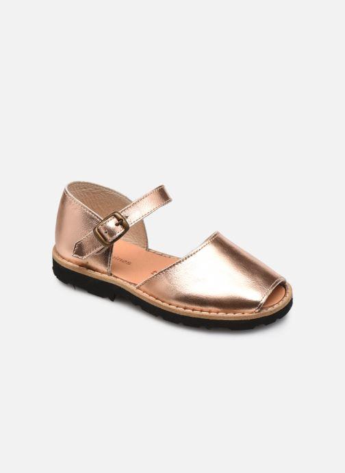 Sandalias MINORQUINES Frailera Oro y bronce vista de detalle / par