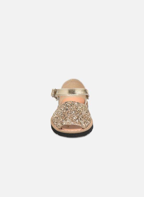 Sandals MINORQUINES Frailera Bronze and Gold model view