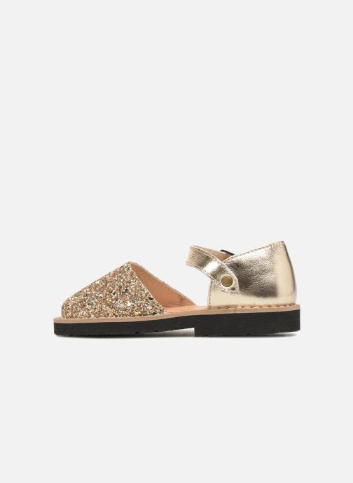 Sandals MINORQUINES Frailera Bronze and Gold front view