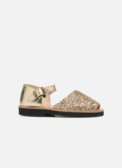 Sandals MINORQUINES Frailera Bronze and Gold back view