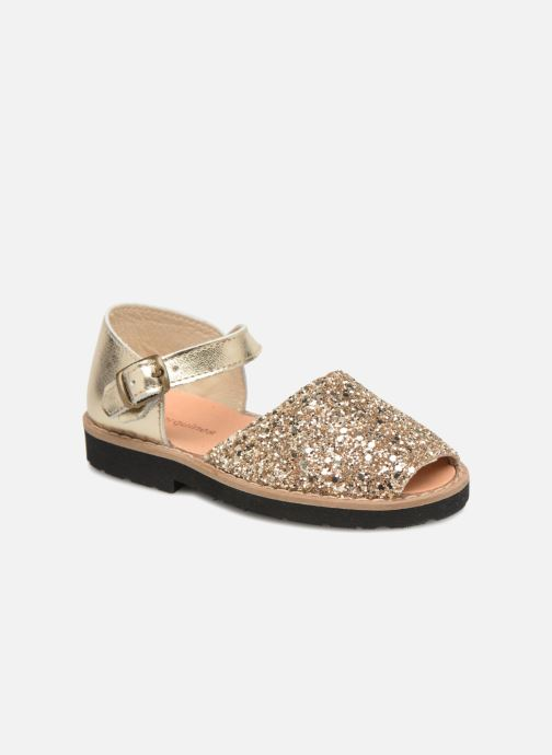 Sandals MINORQUINES Frailera Bronze and Gold detailed view/ Pair view