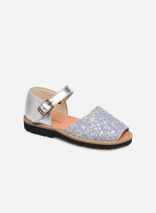 Sandales et nu-pieds Minorquines Frailera Bleu vue détail/paire