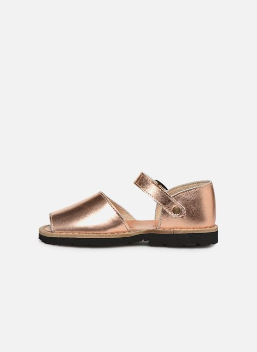 Sandales et nu-pieds Minorquines Frailera Argent vue face