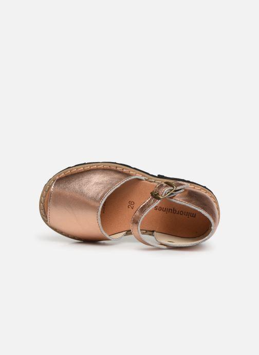 Sandali e scarpe aperte Minorquines Frailera Argento immagine sinistra