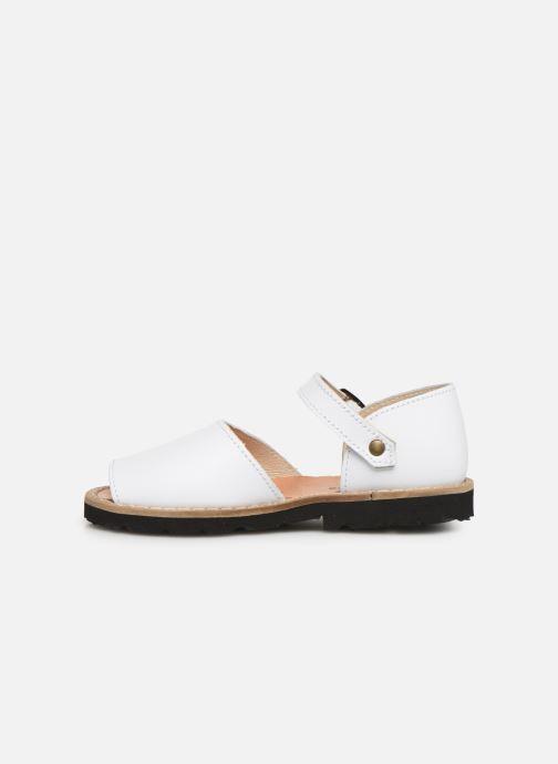 Sandalen Minorquines Frailera weiß ansicht von vorne