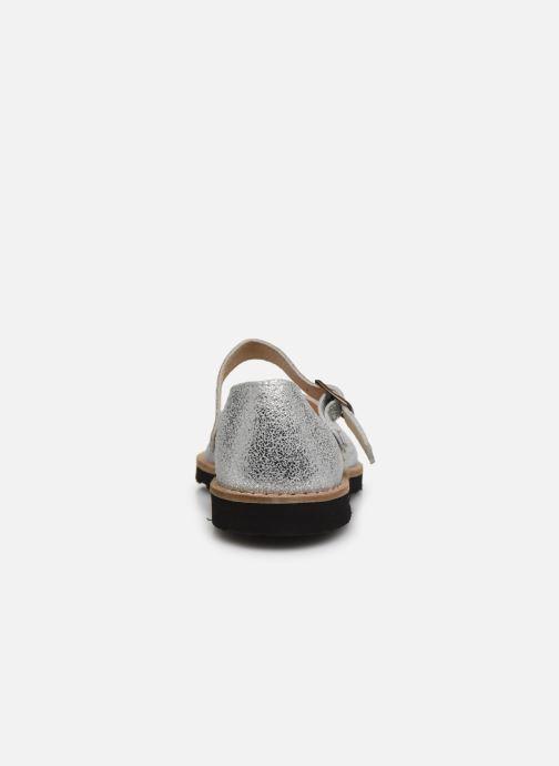 Sandali e scarpe aperte Minorquines Frailera Argento immagine destra