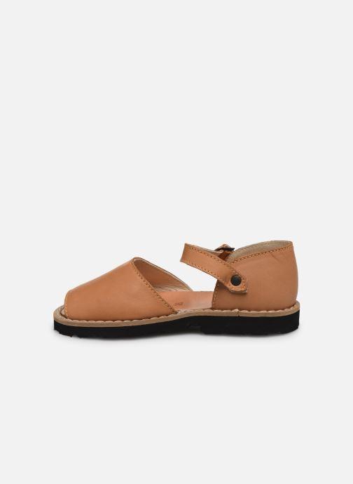 Sandalen Minorquines Frailera braun ansicht von vorne