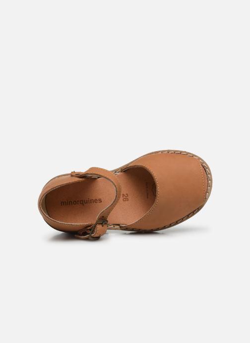 Sandales et nu-pieds MINORQUINES Frailera Marron vue gauche