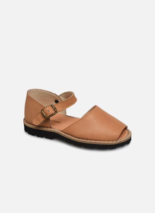 Sandaler Minorquines Frailera Brun detaljeret billede af skoene