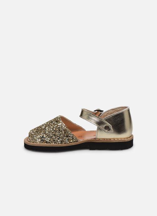 Sandali e scarpe aperte Minorquines Frailera Oro e bronzo immagine frontale