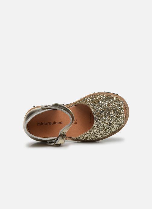 Sandali e scarpe aperte Minorquines Frailera Oro e bronzo immagine sinistra