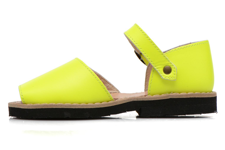 Sandalen MINORQUINES Frailera gelb ansicht von vorne