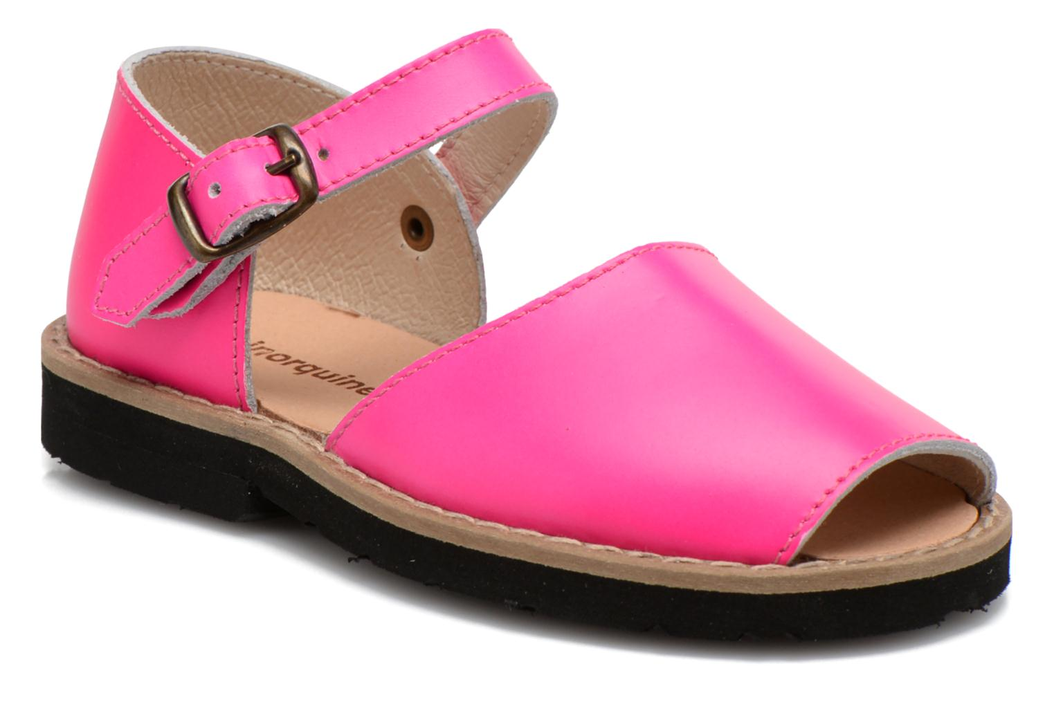 Sandals MINORQUINES Frailera Pink detailed view/ Pair view