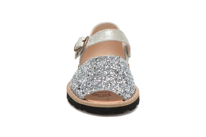 Sandalen MINORQUINES Frailera silber schuhe getragen