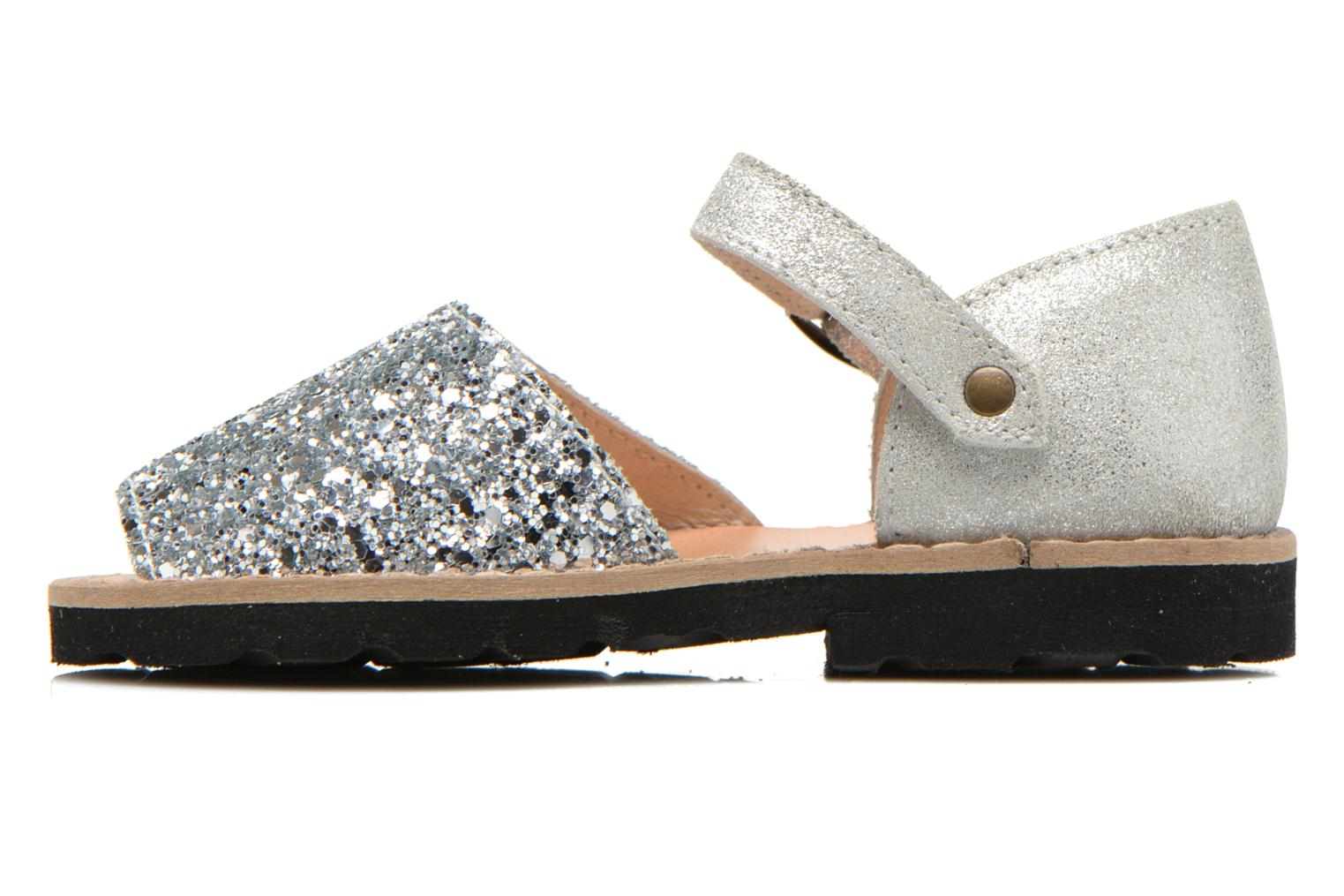 Sandals MINORQUINES Frailera Silver front view