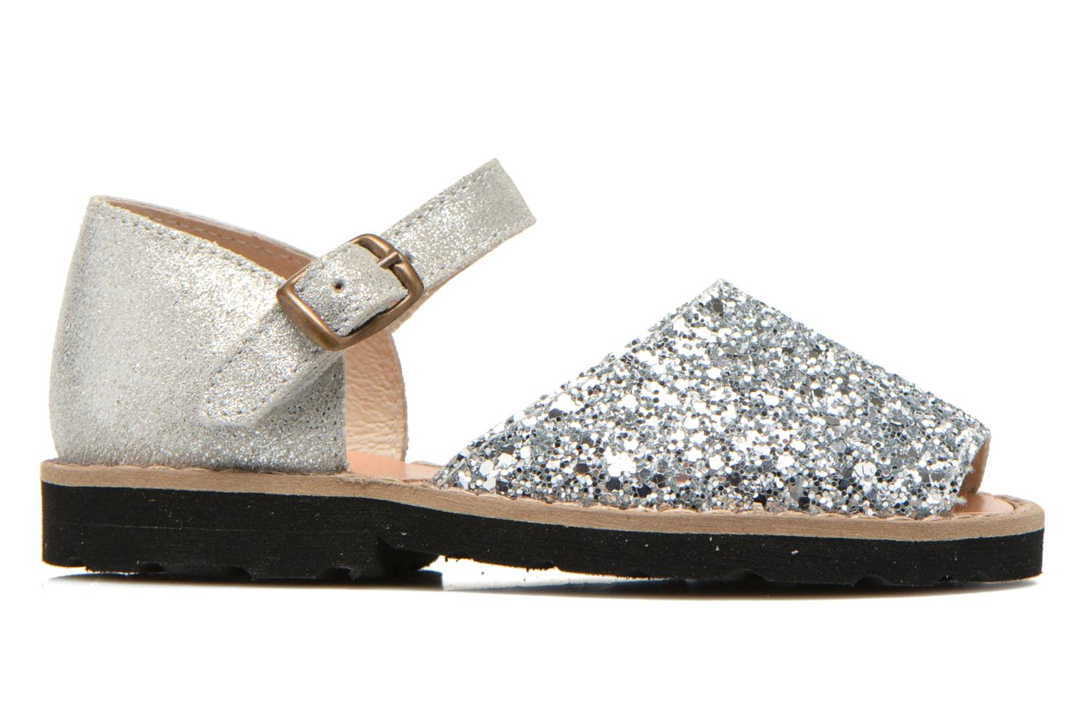Sandals MINORQUINES Frailera Silver back view