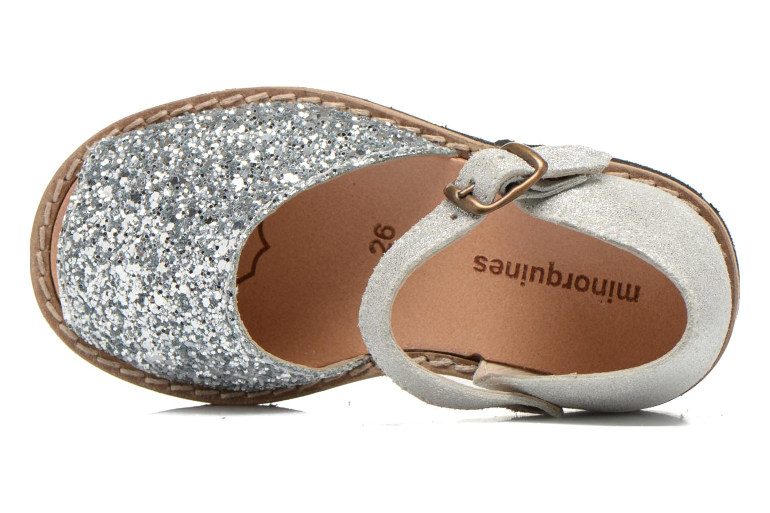Sandals MINORQUINES Frailera Silver view from the left