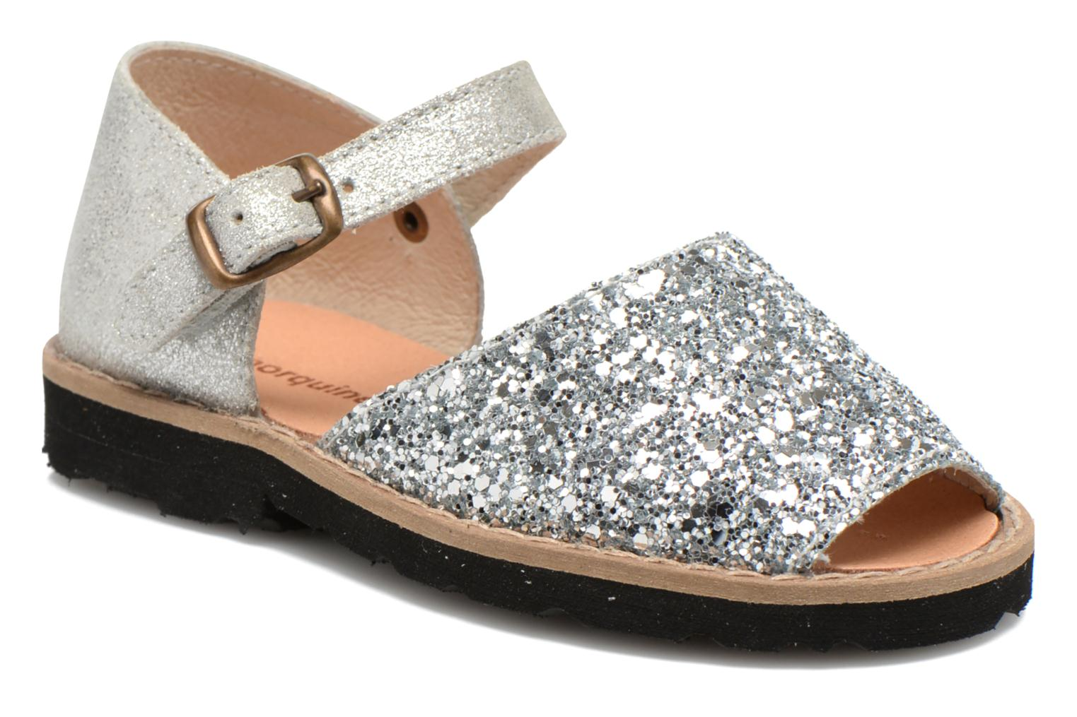 Sandals MINORQUINES Frailera Silver detailed view/ Pair view