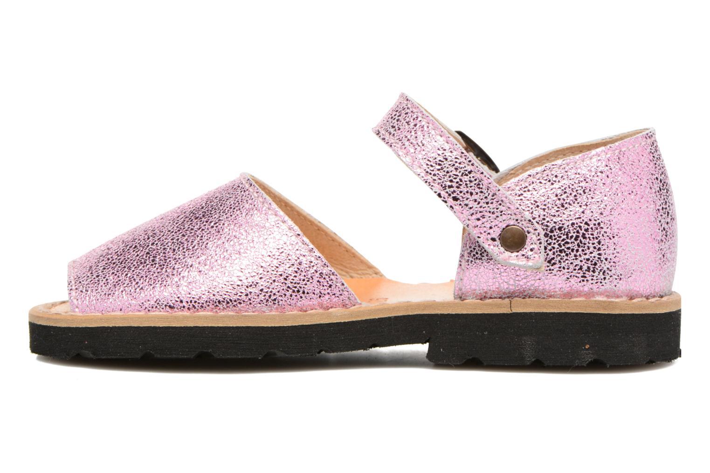 Sandales et nu-pieds MINORQUINES Frailera Rose vue face