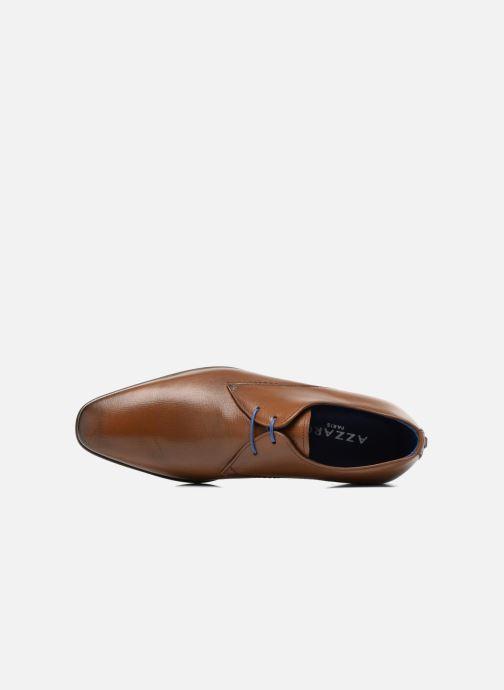 Zapatos con cordones Azzaro Jurico Marrón vista lateral izquierda