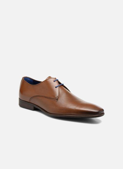 Snøresko Azzaro Jurico Brun detaljeret billede af skoene