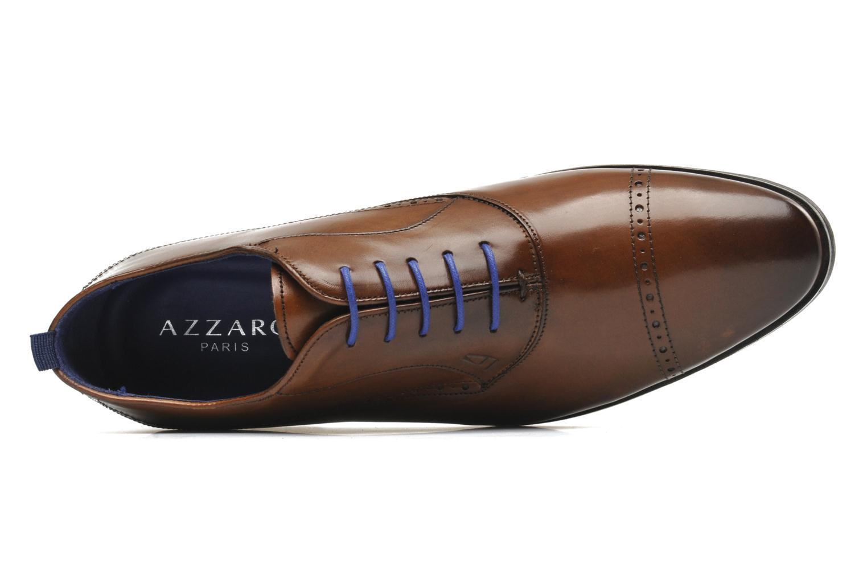 Chaussures à lacets Azzaro Depeche Marron vue gauche